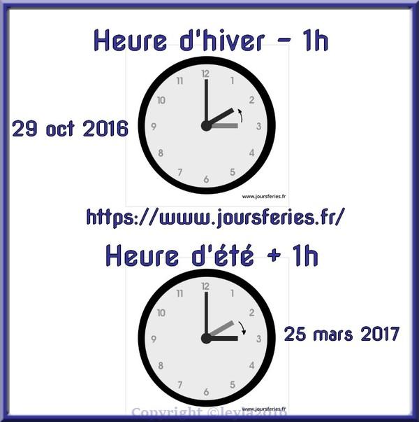 Passage heure d 39 hiver on recule sa montre 1h - Changement d heure 2017 hiver ...