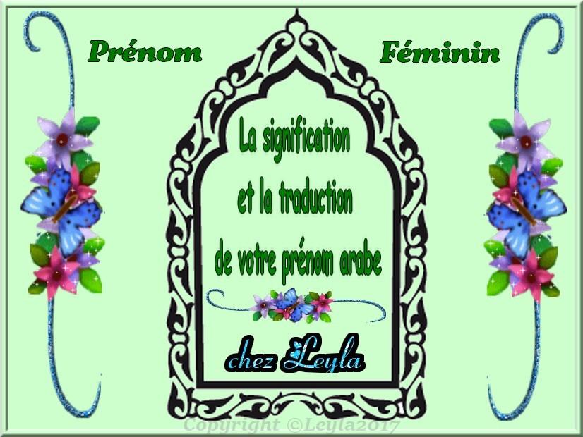 nom islam fille