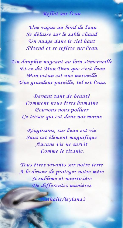 Mon Poème Reflet Sur Leau